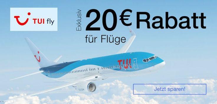 Günstig reisen- Billiger Flug. 20€ Rabatt TUI fly