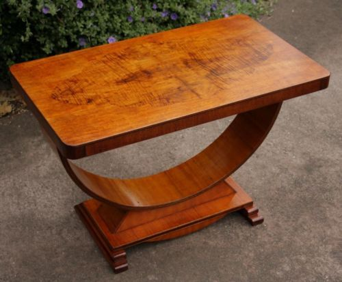 Superb Original Art Deco U-Shaped Coffee / Hall / Side Table c1930