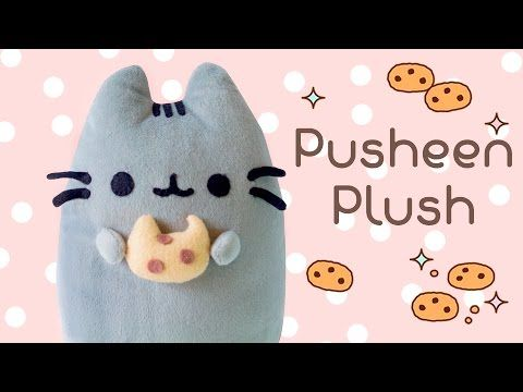 DIY Pusheen Cat & Cookie Plush Tutorial | How to make Pusheen Pillow | I Wear A Bow - YouTube