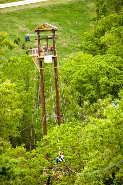 BEST Zipline anywhere, 7 miles North of Branson, Mo! Hmm... Maybe, just a thought for my 40th birthdday!!!