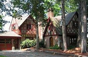Tudor Revival (1880–1940). The Tudor Revival style drew from medieval English architecture and was ignited by William Morris, a promoter of the British Arts and Crafts movement in the late nineteenth century. The form was based on broad reinterpretations of English manor houses. Enormously popular in the 1920s and 30s, it benefited from advances in masonry veneer technique that facilitated brick and stucco façades