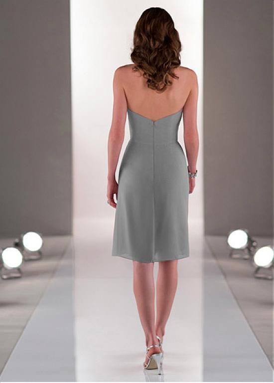 Chic Chiffon Sweetheart Neckline Knee-length Sheath Homecoming Dress