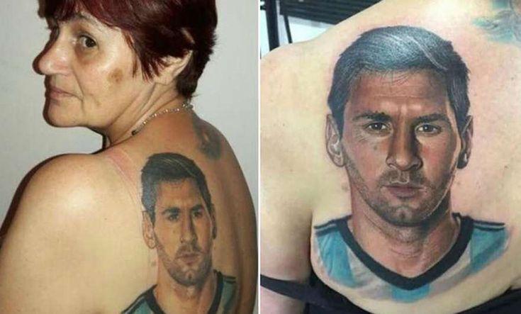Una señora de 54 años se hace un tatuaje de Messi que te dejará impresionado - https://www.tatuantes.com/tatuaje-de-messi/ #tattoo