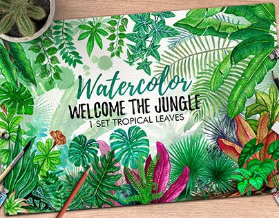 """Check out new work on my @Behance portfolio: """"Tropical Leaves in the Jungle"""" http://be.net/gallery/61869041/Tropical-Leaves-in-the-Jungle"""