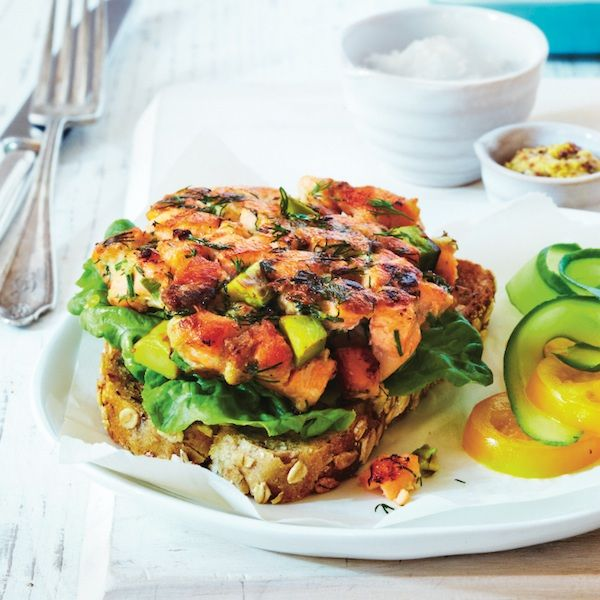 Salmon and avocado omega burger recipe - Chatelaine.com