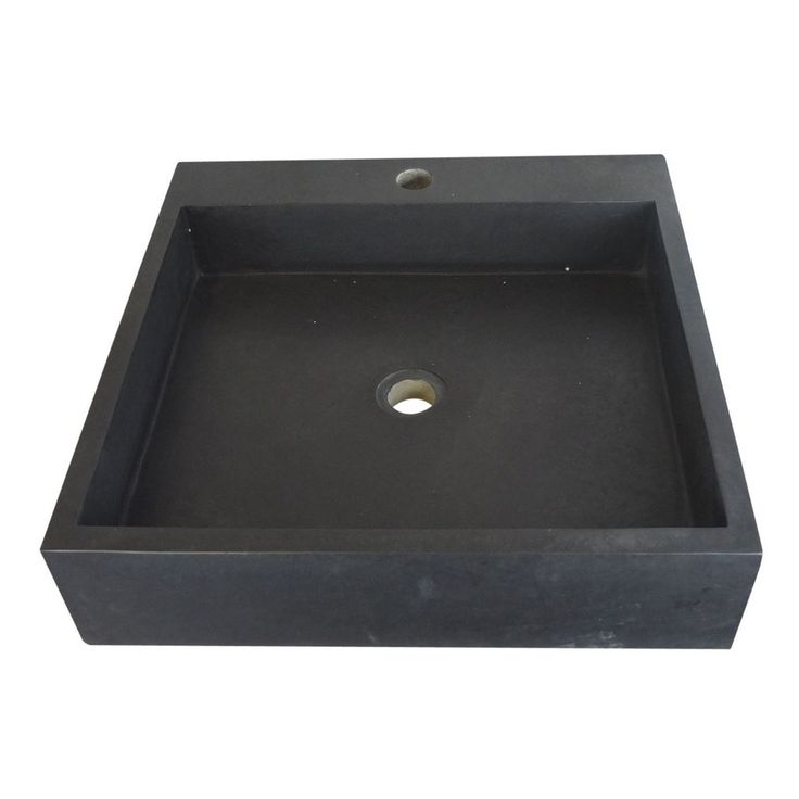 A large Square Honed Basalt Stone Basin hand made from a timeless Black Honed Basalt marble perfect for any bathroom, kitchen or cloakroom. This sink measures 50 cm x 50 cm x 12 cm & comes with a standard waste hole cut. | eBay!