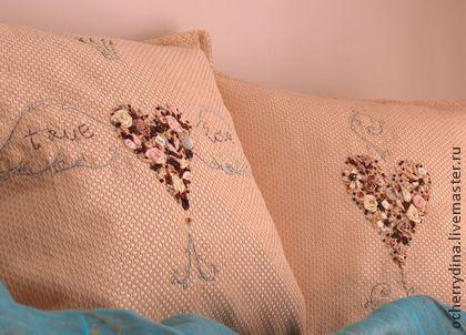 """Наволочки """"Настоящая любовь"""" - наволочки,декоративная подушка,вышитые наволочки"""