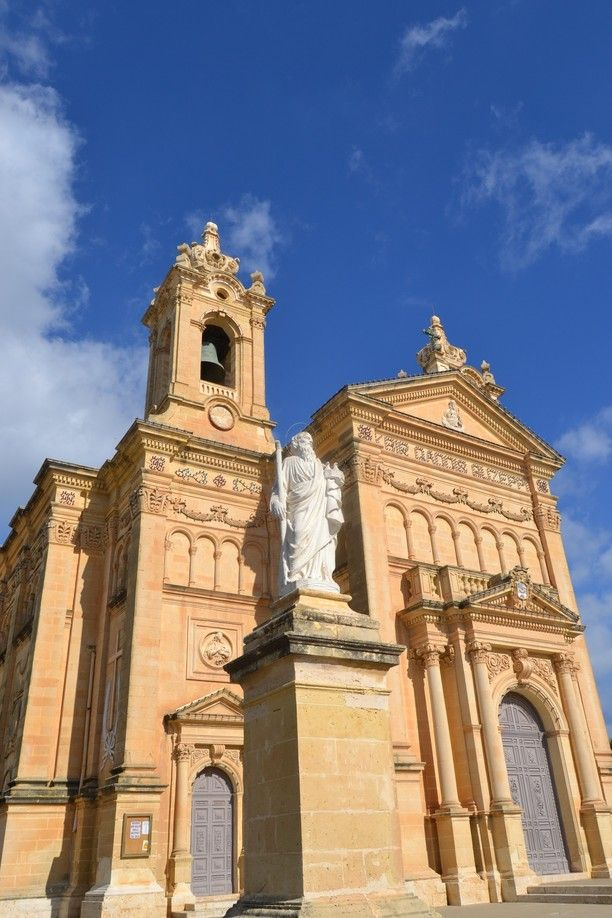 Qala, Malta — by Earthseeing. Detailed ornaments and beautiful architecture is typical for maltese buildings. This church is located in the piazza...