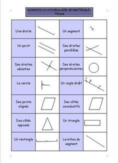 Geometry: the domino of the geometric vocabulary – titicole