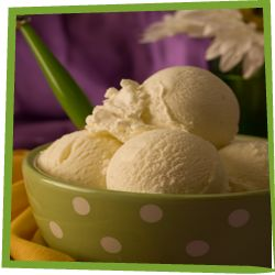 Lower your sugar intake! Try this recipe for ice cream made with Ideal sweetener for an all-natural, sugar-free dessert by clicking on image of ice cream.
