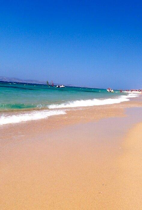Plaka beach naxos greece