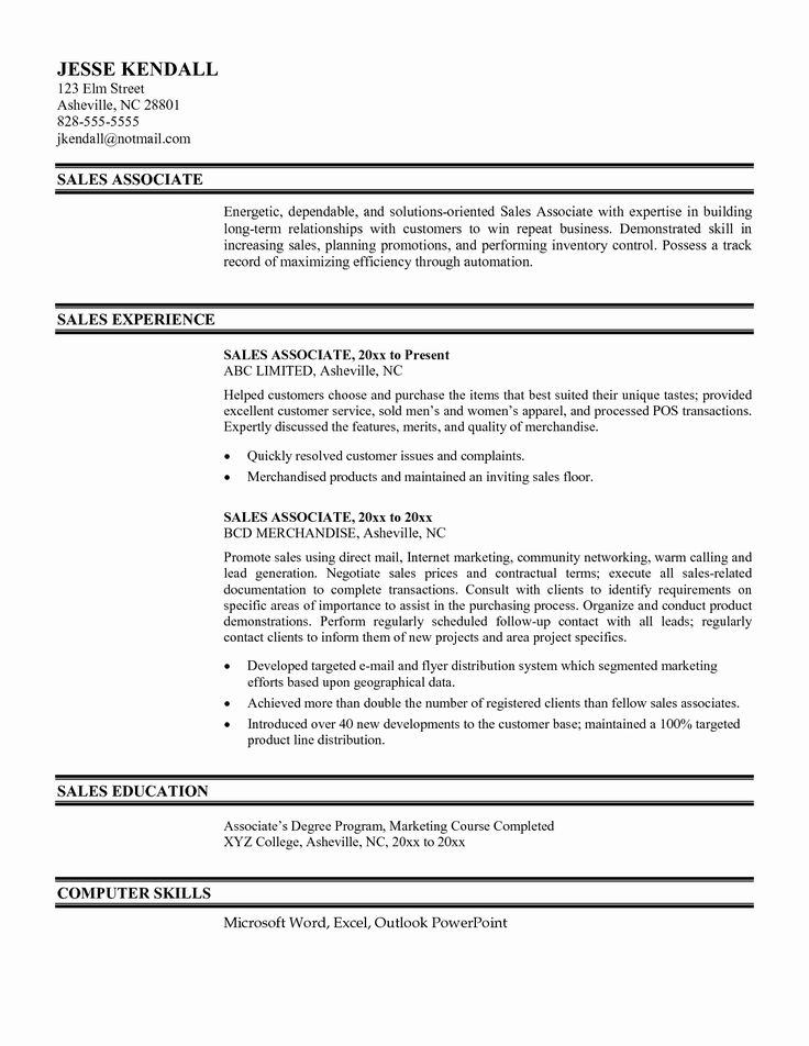 Retail Sales associate Resume Examples Fresh Best Store