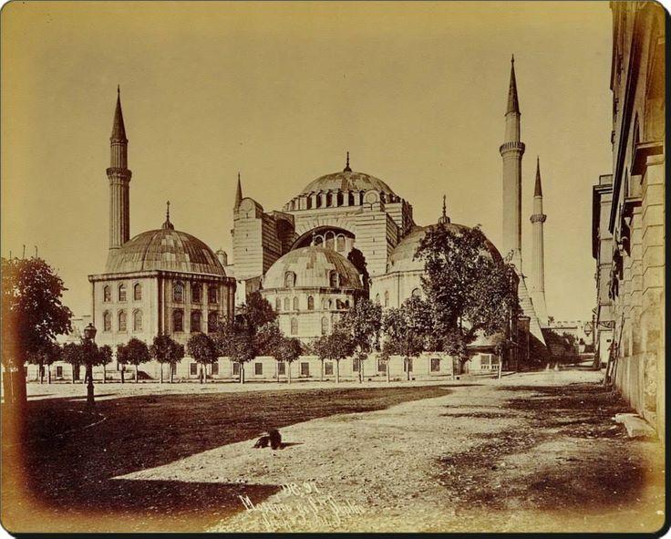 Ayasofya - 1880'ler Fotoğraf : Sébah & Joaillier