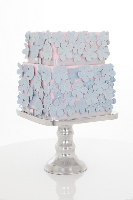 Pink and blue flowers wedding cake by carolinescakecompany, via Flickr