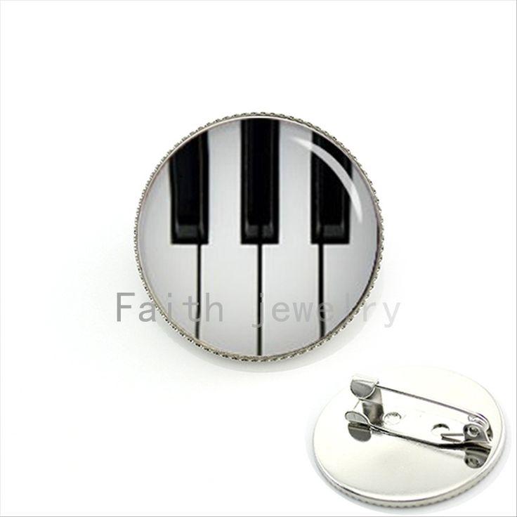 Урожай классический bijoux брошь ювелирные изделия Фортепиано Фортепиано Клавиатура в черно-Белом для Музыкантов, клавиатура пианино мужчины подарок KC486