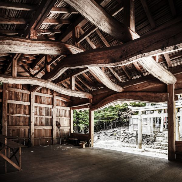 Hakusan Gongen Stunning Interior Of Ancient Shinto Temple