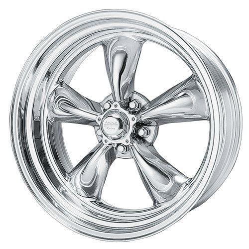 American Racing Hot Rod Torq Thrust II VN505 Polished Wheel - polished aluminum