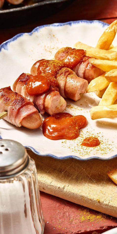 Diese Berner Würstchen werden dich begeistern. Lecker gefüllt mit Käse und mit Bacon umwickelt, einfach köstlich!