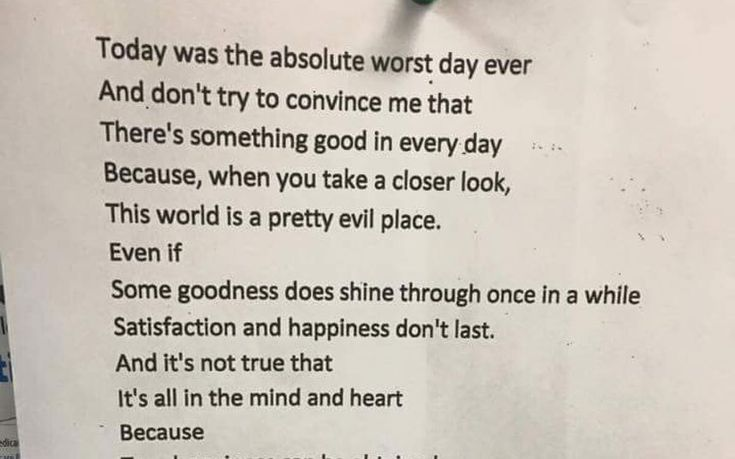 A teenager's seemingly sombre poem has gone viral after its hidden uplifting   message was revealed