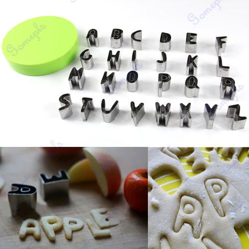 26 Letters Alphabet Shape Cutter Mould Box Fondant Cookie Biscuit Cake Mold new #Unbranded