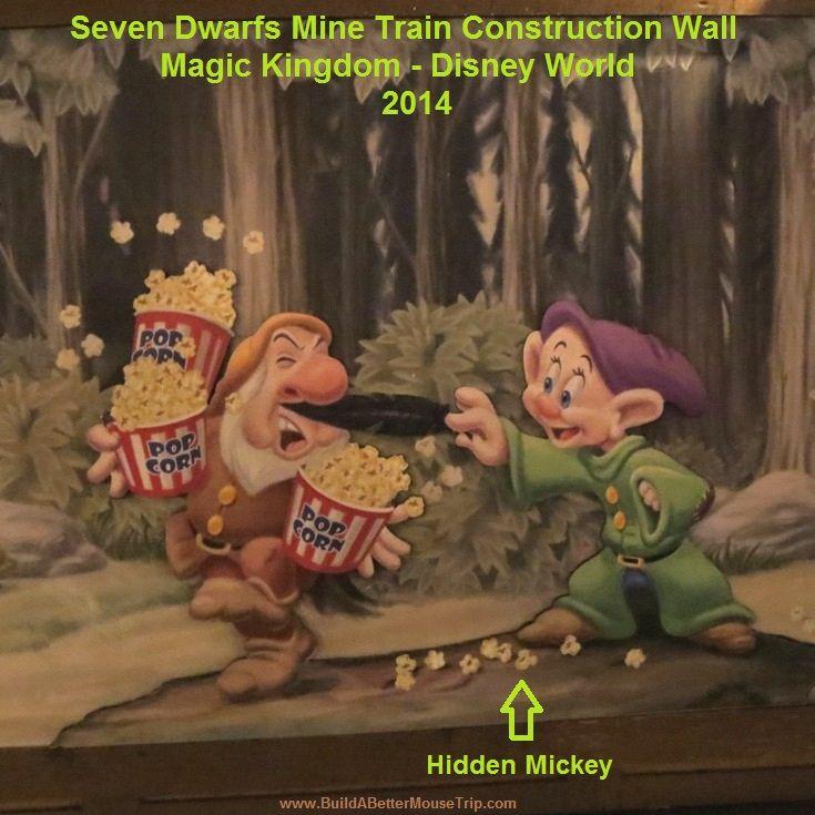 7 dwarfs mine train hidden mickeys
