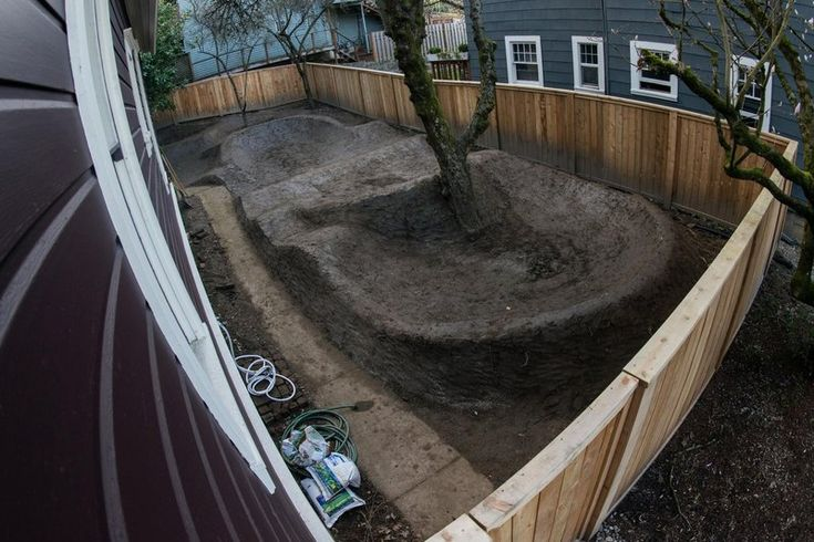 The finished product: One backyard pump track!