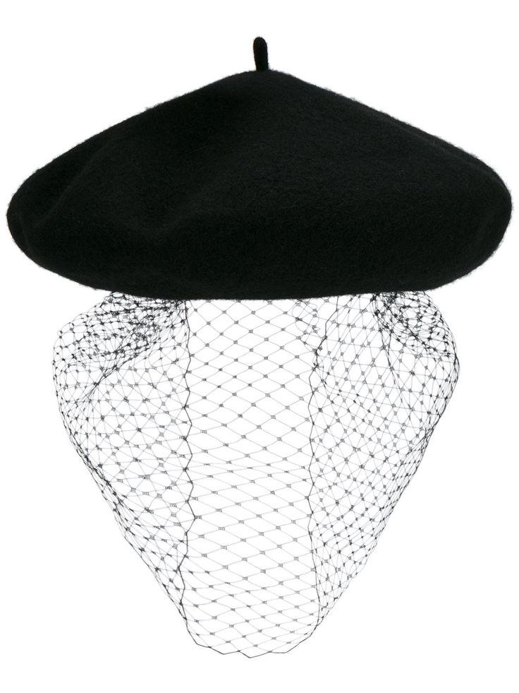 Silver Spoon Attire mesh veil beret