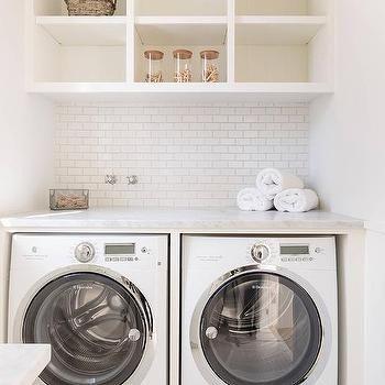 25 best washer dryer shelf ideas on pinterest dryers for Open shelving laundry room