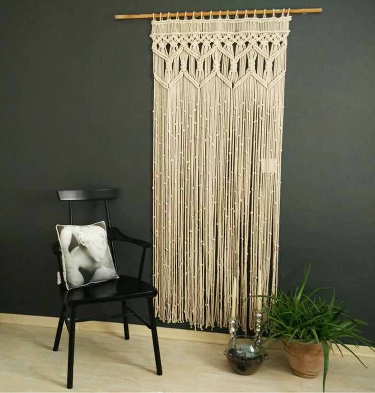 Large Macrame wall hanging Fiber art hanging Geometric Macrame wall hanging large textile by KnotSquared on Etsy