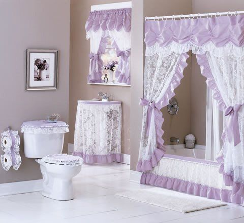 purple romantic bathroom