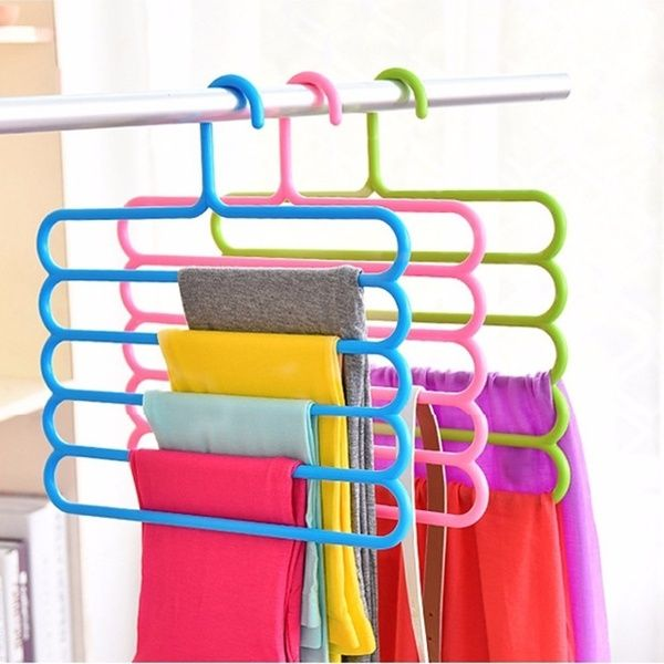 5 Layers Non Slip Multifunctional Clothes Hangers Pants Storage Hangers Cloth Rack Multilayer Storage Scarf Tie Rack Hanger Holder Space Saving Wish Clothes Hanger Pants Rack Pant Hangers
