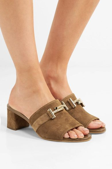 Tod's - Suede Mules - Brown - IT35.5
