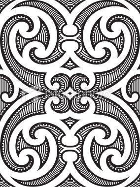 Seamless Maori Tattoo Design Royalty Free Stock Vector Art Illustration