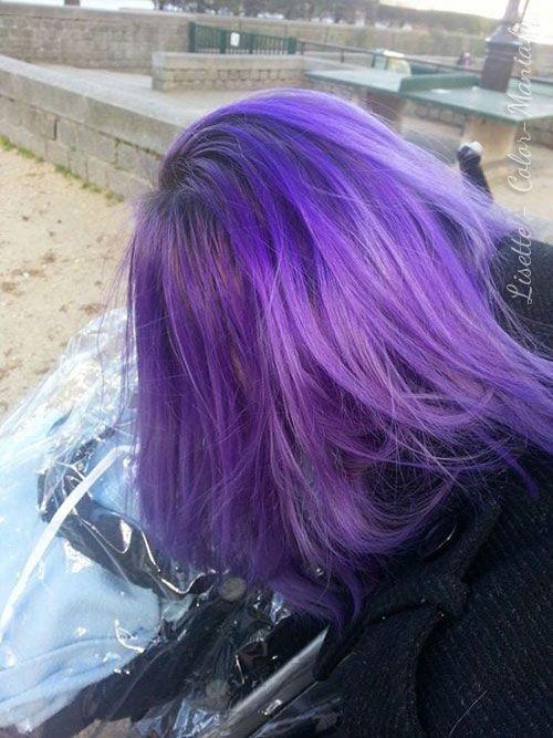 coloration cheveux violet directions color mania - Dcoloration Cheveux Colors