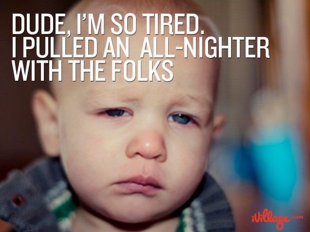Up all night? We feel your pain. #momhumor #baby