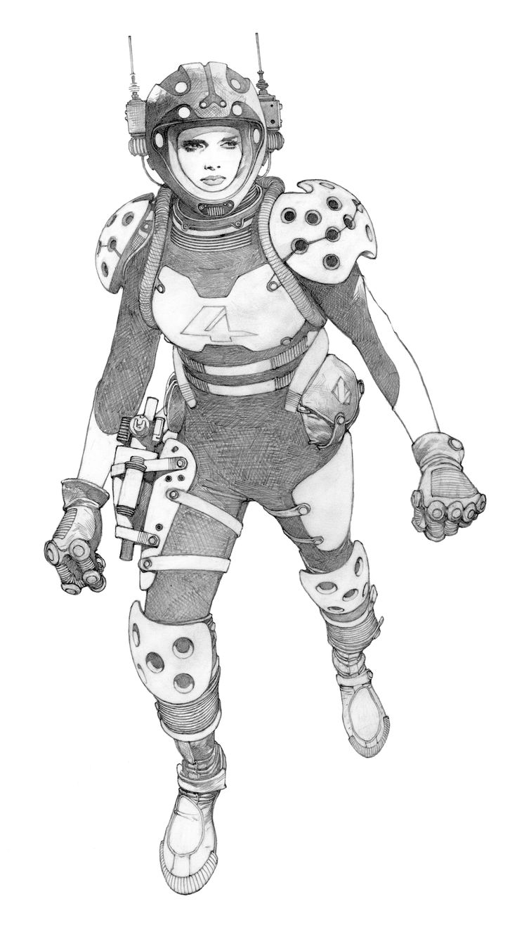 Space Girl by Travis Charest