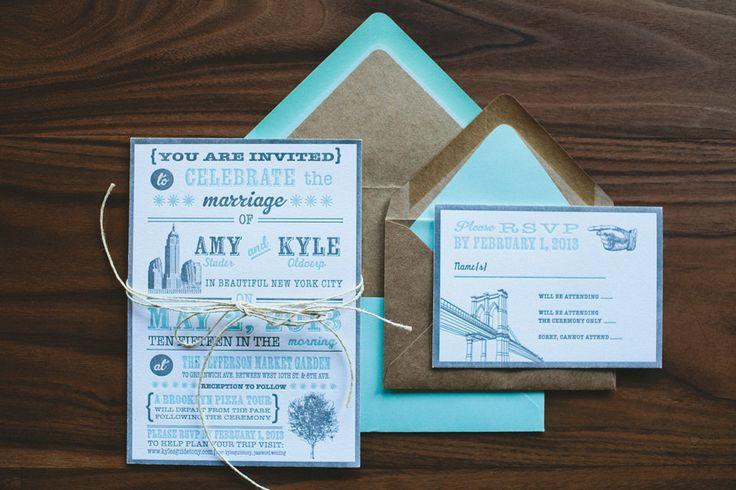 Tree Letterpress Rustic Wedding Invitation New by WideEyesPaperCo