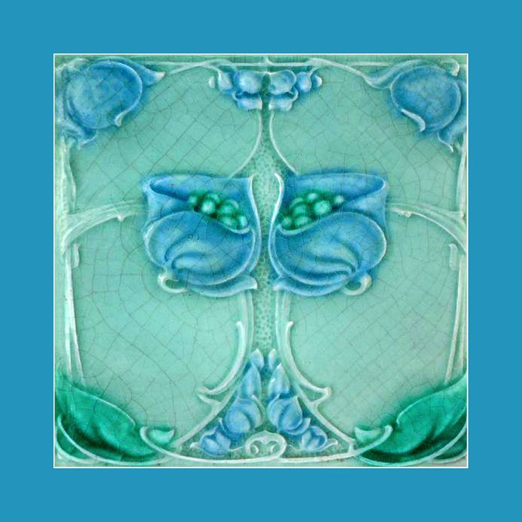 "122 Art Nouveau tile by Marsden (1905). Courtesy of Robert Smith from his book ""Art Nouveau Tiles with Style"". Buy as an e-card with a personalised greeting!"