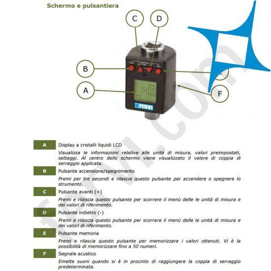 Chiave dinamometrica digitale FERVI 0268