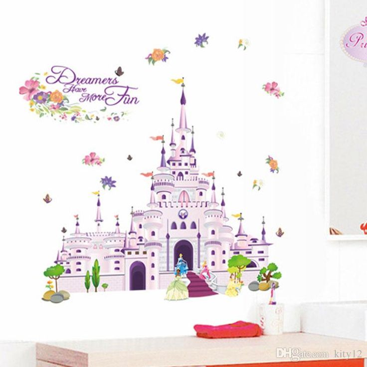Dream Castle 3d Wall Stickers Removable Wallpaper For Kids Rooms Television Diy Cartoon Wall Art Decals Home Decoration Poster Sticker Quote Wall Decals Quote Wall Sticker From Kity12, $3.02| Dhgate.Com