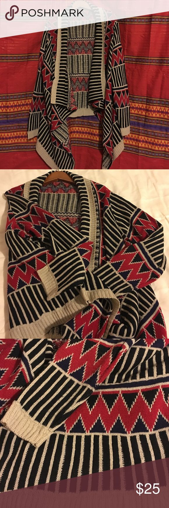 A Knitch Above Sweater Cardigan A Knitch Above Sweater Cardigan.  Tribal pattern. Never used. Fall season staple! A Knitch Above Sweaters Cardigans