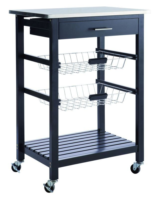 Küchenwagen COOKIES - schwarz - 83,5 hoch