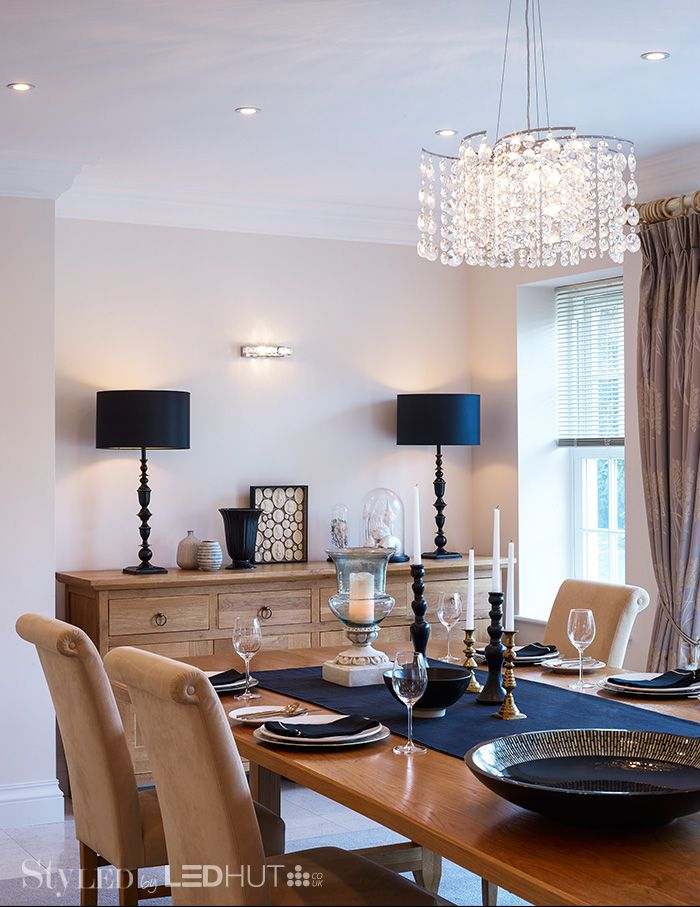 The right LED lighting scheme in your dining room will help set the mood and create an inviting atmosphere for guests #StyLEDlighting