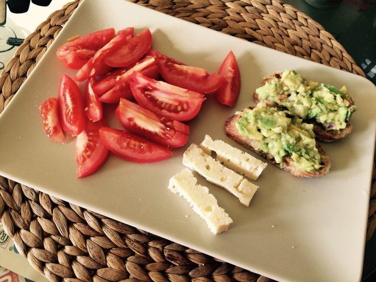 Mexican Guacamole Breakfast! Delicious!
