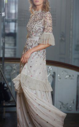 c1ffb7c93aff Dusk Floral Embroidered Gown by Needle & Thread Resort 2019 | Party ...