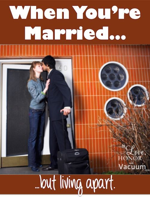When you're married but living apart--because of work or school. #marriage