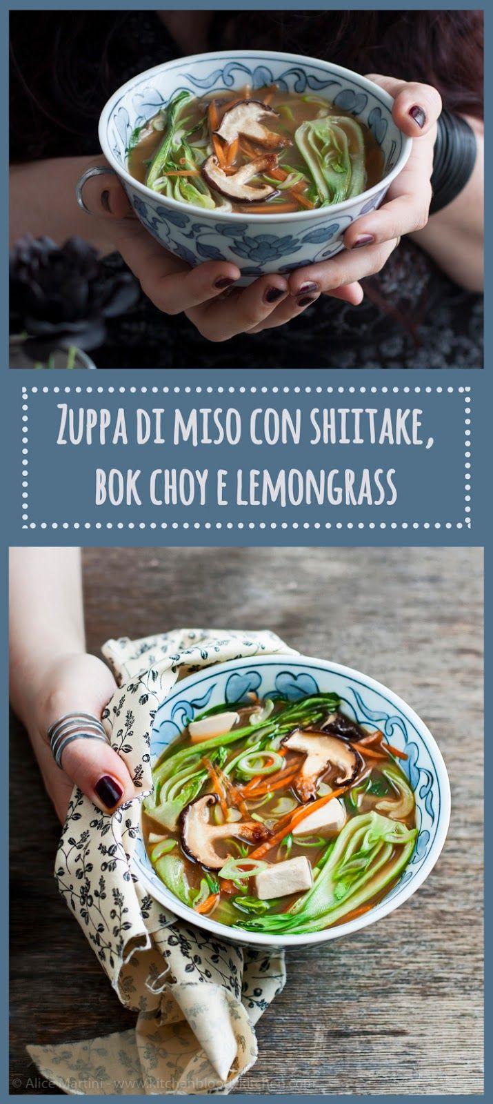 Miso soup with shiitake, bok choy and lemongrass | *Vegan recipe*