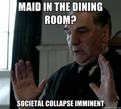Cats and dogs sleeping together...mass hysteria! #DowntonAbbey