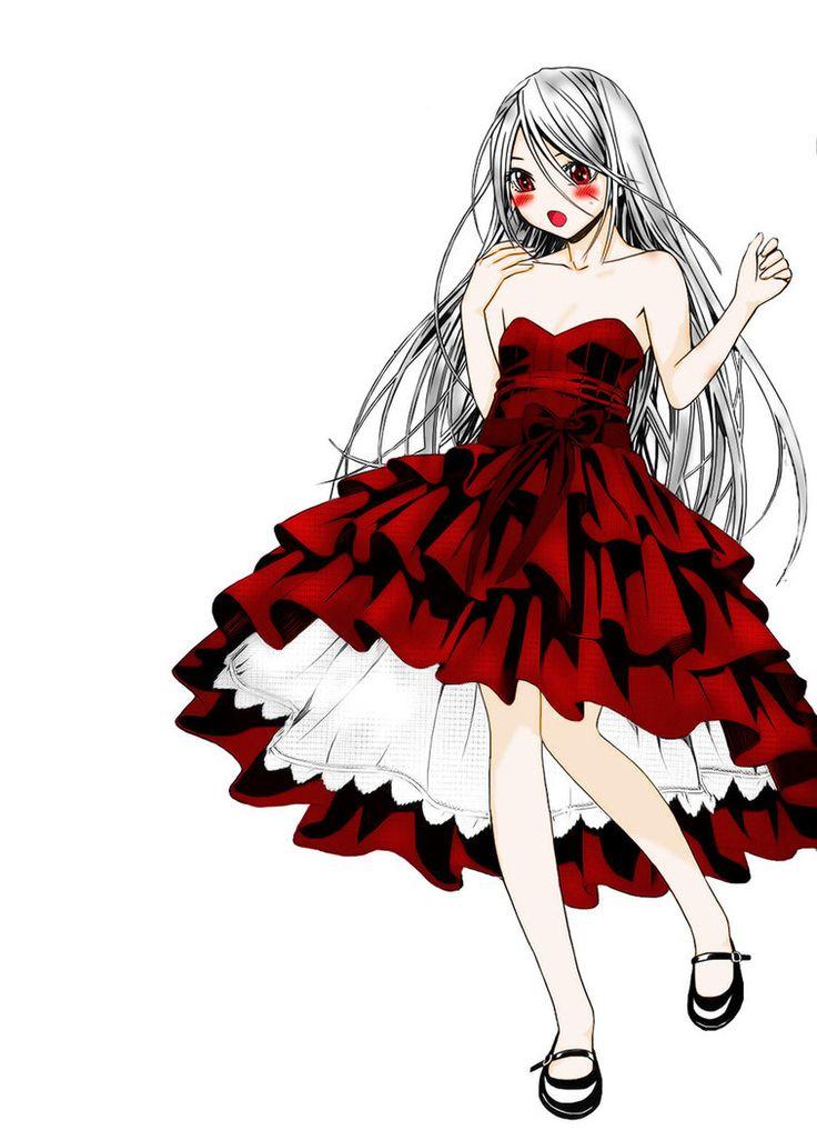 Red dress vampire anime