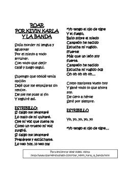 Need a fun way to start class today?  Roar Song Lyrics in Spanish for free!
